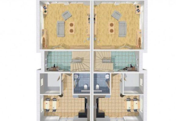 Grundriss Doppelhause