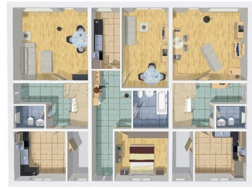 Grundriss Mehrfamilienhaus 320 qm 10 Zimmer | Wilms Haus