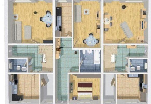 Grundriss Mehrfamilienhaus