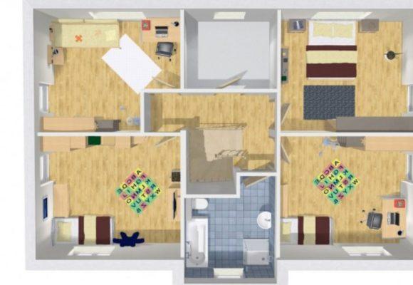 Grundriss Haus mit Einliegerwohnung