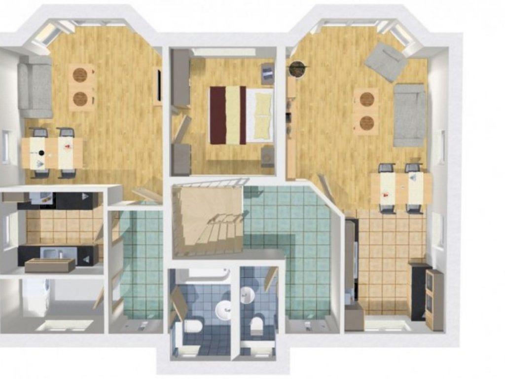grundriss haus mit einliegerwohnung 200 qm 8 zimmer wilms haus. Black Bedroom Furniture Sets. Home Design Ideas