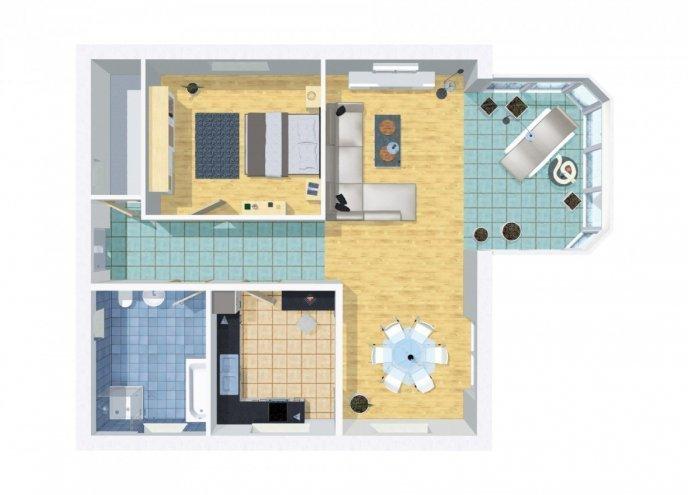 grundriss bungalow barrierefrei 100 qm 2 zimmer wilms haus. Black Bedroom Furniture Sets. Home Design Ideas